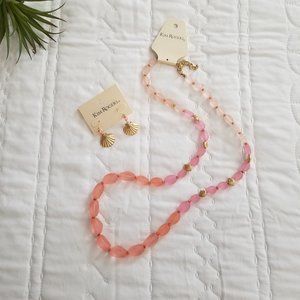 Kim Rogers Shell Necklace and Earring Set (NWT)